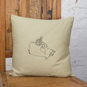 Personalised Canada Map Cushion Cover