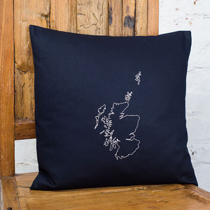 Personalised Scotland Map Cushion Cover