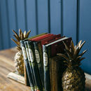 Golden Pineapple Book Ends