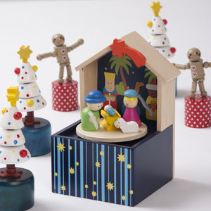 Wooden Musical Nativity Set