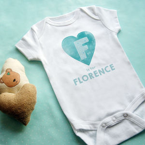 Personalised Heart Baby Vest - for babies