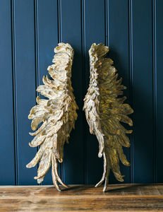 Gold Angel Wings - decorative accessories