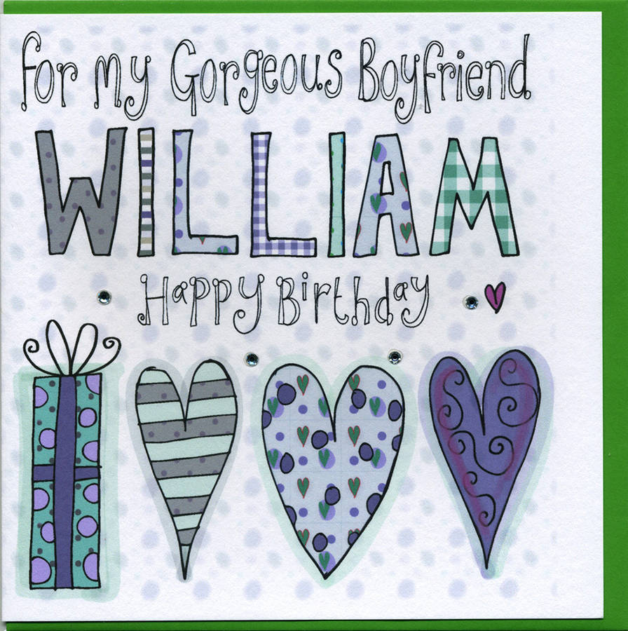 Personalised Boyfriend Birthday Card