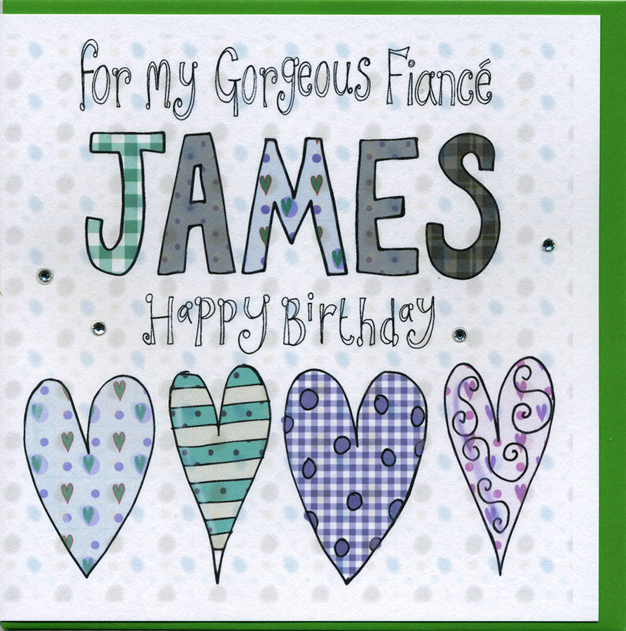 personalised fiance birthday card by claire sowden design – Male Birthday Cards