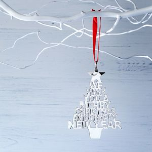 Silver Merry Christmas Tree Decoration - kitchen