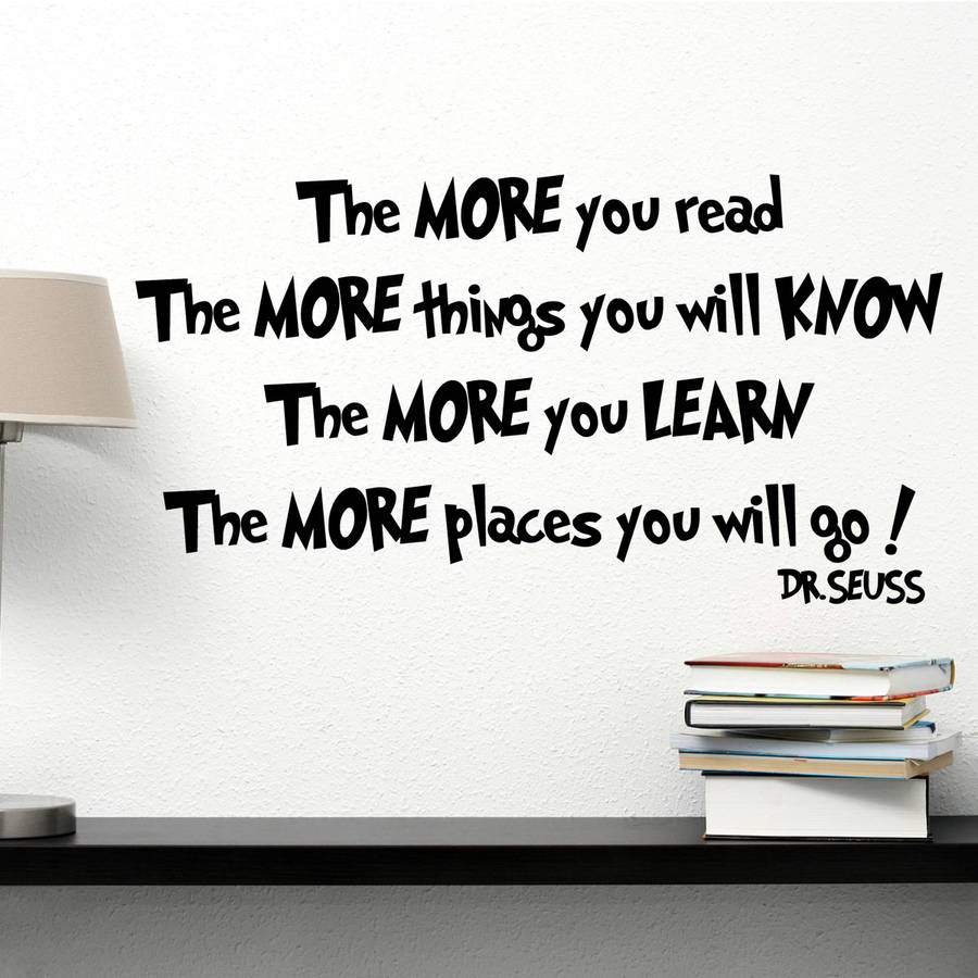 The More You Read Dr Seuss Wall Sticker