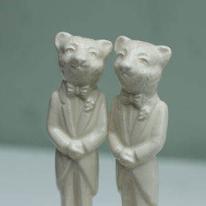Two Bears Same Sex Gay Wedding Cake Topper - table decorations