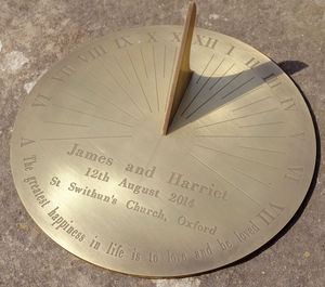 Personalised Copernicus Brass Sundial - wedding gifts