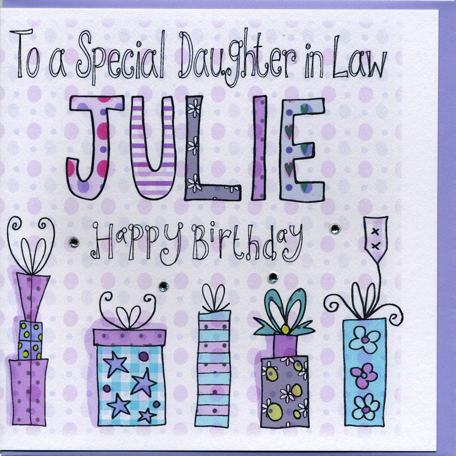 Personalised Daughter In Law Birthday Card