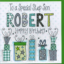 Personalised Step Son Birthday Card