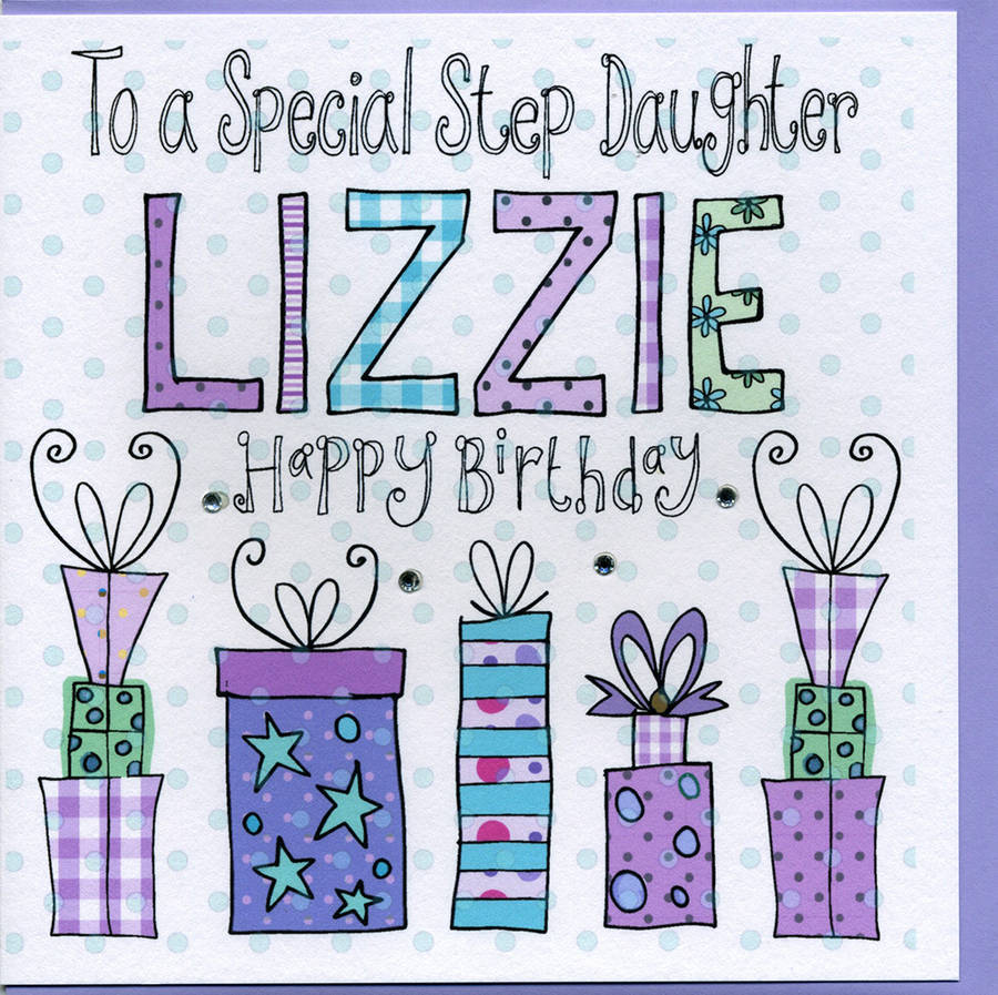 Personalised Step Daughter Birthday Card