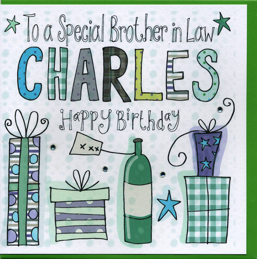 Personalised Brother In Law Birthday Card By Claire Sowden Design