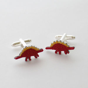 Stegosaurus Dinosaur Cufflinks - men's jewellery