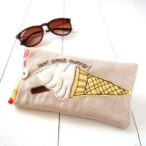 Personalised Ice Cream Sunglasses Case - glasses cases