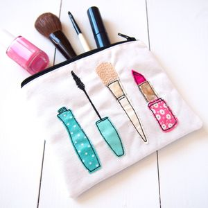 Applique Make Up Bag