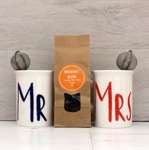 Mr And Mrs Wedding Breakfast Gift Set - teas, coffees & infusions