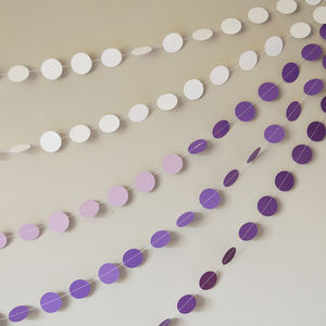 Purple Princess Ombré Paper Garland - bunting & garlands