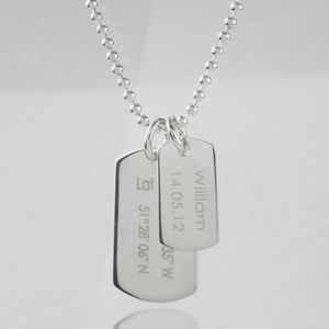 Men's Birth Day Celebration Dog Tags Necklace