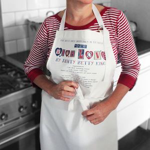Made With Love Personalised Recipe Apron