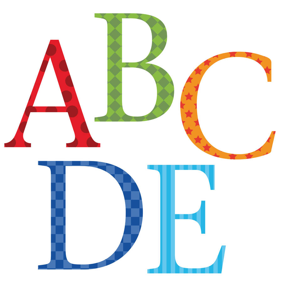 Childrens alphabet wall stickers upper and lower case by kidscapes childrens alphabet wall stickers upper and lower case amipublicfo Images