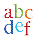 Childrens Alphabet Wall Stickers Upper And Lower Case