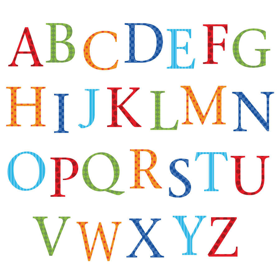 childrens alphabet wall stickers upper and lower case by alphabet with animal designs removable wall sticker for