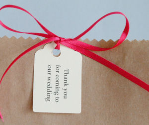 Pack Of 25 Tags - wedding favours