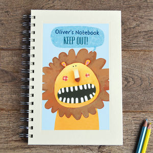 Personalised Animal Notebook