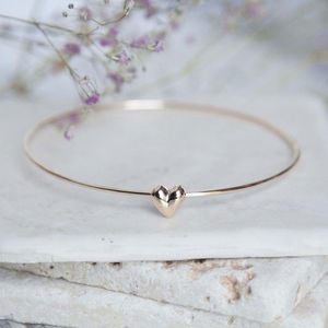 Heart Bangle - gifts for her