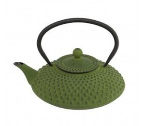 Green Cast Iron Teapot One.25 L