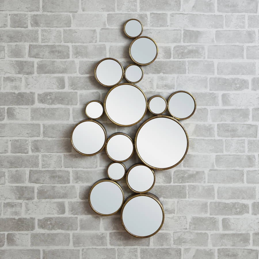 39 funky 39 circles mirror by decorative mirrors online for Fancy mirror