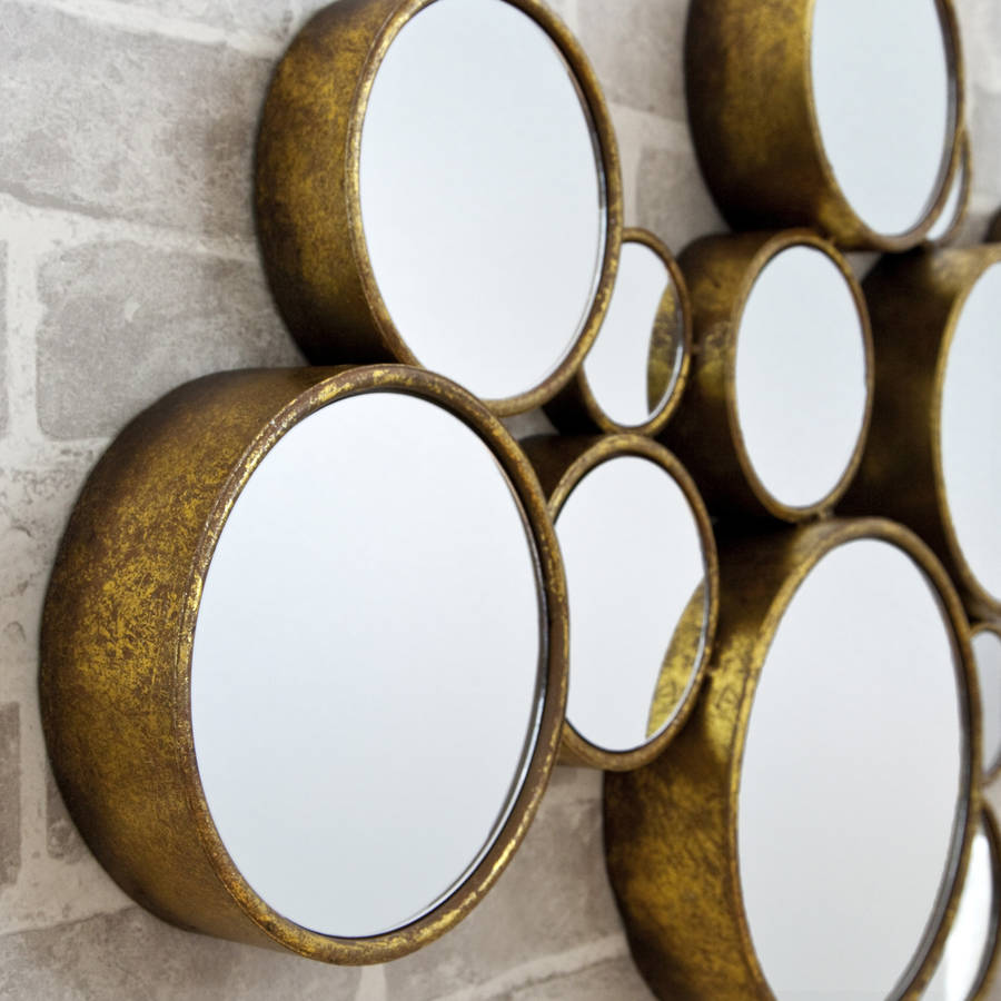 39 funky 39 circles mirror by decorative mirrors online for Circle mirror