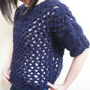 Chunky Aloc Lace Sweater Knitting Kit Jumper Set