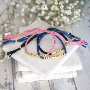 Gold Beaded Friendship Bracelet - jewellery gifts for friends
