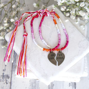 Set Of Two Best Friends Friendship Bracelets - bracelets & bangles