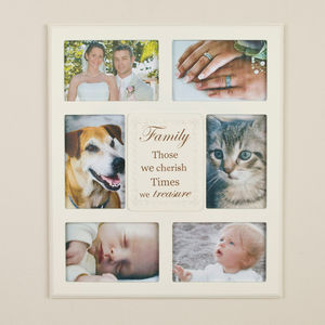Family Personalise Cream Multi Frame - picture frames