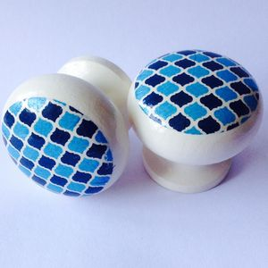 Blue Moroccan Kitchen Door Drawer Cupboard Knob