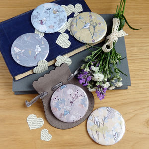 Bird Themed Pocket Mirror Wedding Favours