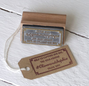 Hashtag Wedding Favour Stamp