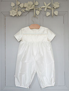 Boys 'Vienna' Christening Romper Suit - clothing