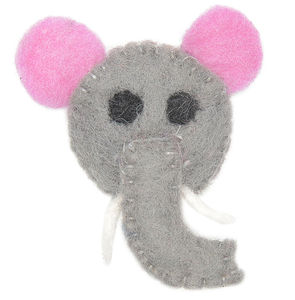 Handmade Felt Elephant Brooch - women's jewellery