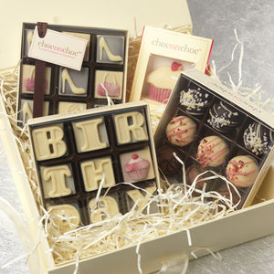 Birthday Girl Handmade Chocolate Hamper - chocolates & confectionery