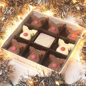 Christmas Chocolate Reindeer Box - gifts for vegetarians