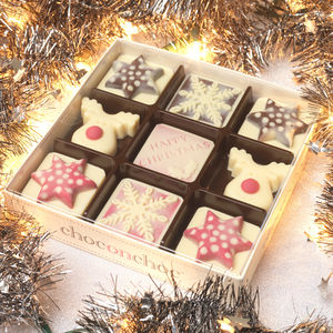Christmas Chocolates Spotty Sharing Box - food gifts