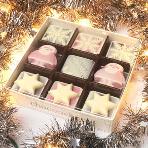 Christmas Chocolate Snowflakes, Santa And Stars - food gifts