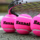 Shocking Pink Personalised Tennis Balls