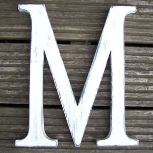 Times New Roman 12 Inch Handmade Wooden Letter - decorative accessories