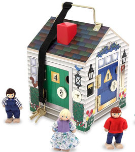 Wooden Doorbells And Locks Little Dolls House - dolls' houses
