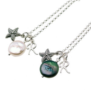 Silver Starfish Personalised Necklace