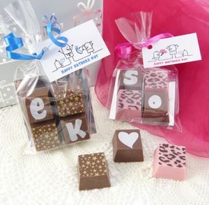 Personalised Chocolate Wedding Favours - edible favours